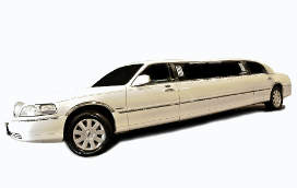 8 Pas. White<br>Lincoln Towncar