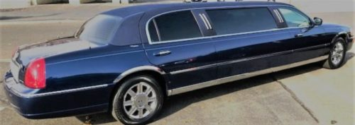 6 Pass. Midnight Blue Stretch Lincoln Town Car